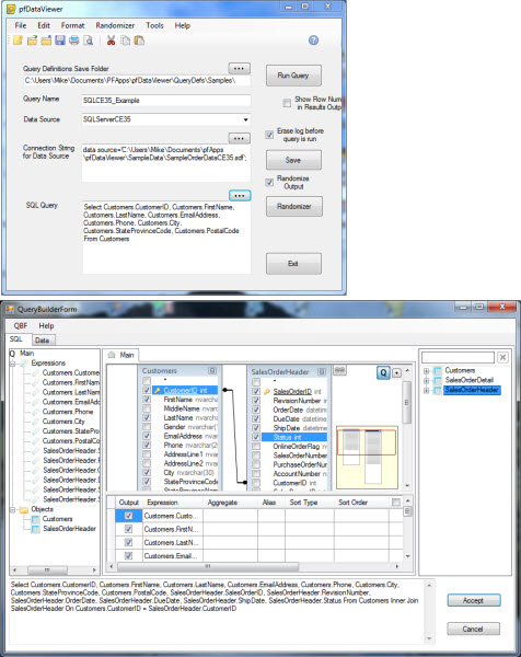 pfDataViewer Screen shot